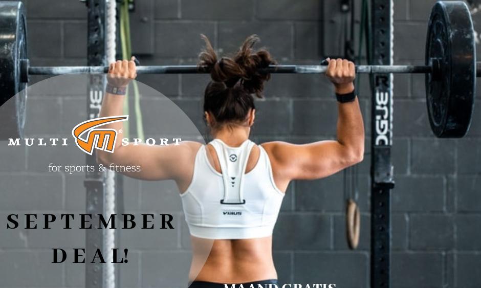 fitnessactie aanbieding multisport